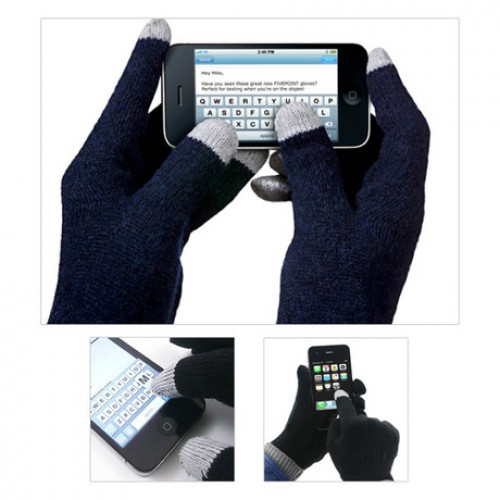 2 Pack: Unisex Conductive Touch Screen Glove