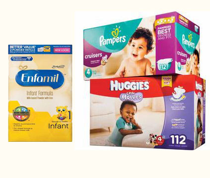 Daily Updated Diapers, Baby Wipes, Formula, Baby Food Popular Deals @ Various Stores