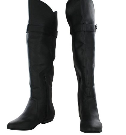 Not Rated Women's Flat Riding Buckle Boots (Dealmoon Exclusive)