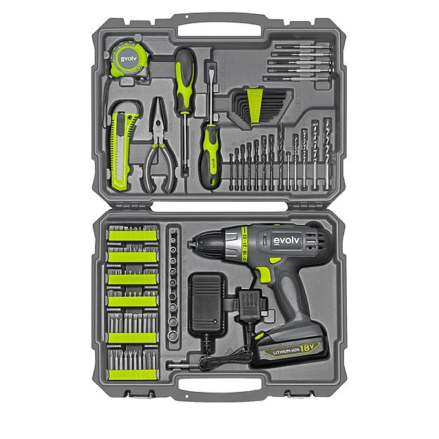 $39.96 Evolv 107-Piece Cordless Lithium Drill & Project Toolkit