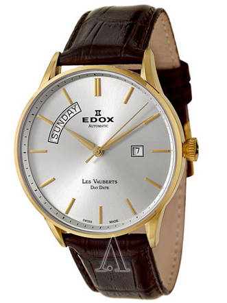 $399 Edox Men's Les Vauberts Day Date Automatic Watch 83010-37J-AID (Dealmoon Exclusive)