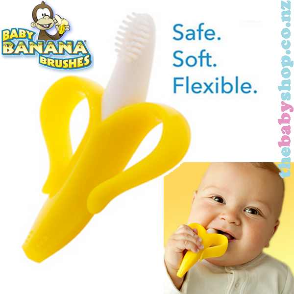 #1 Best Seller! $7.73 Baby Banana Bendable Training Toothbrush, Infant