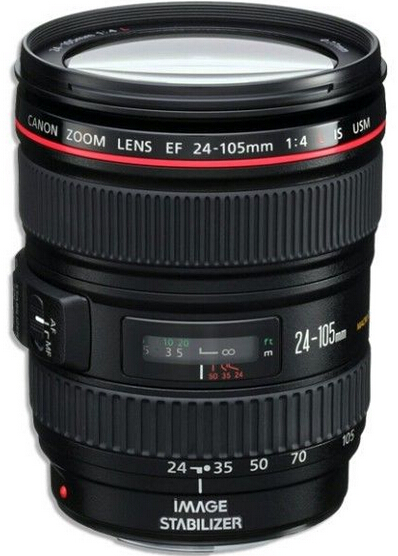 $579 Canon EF 24-105mm f/4L IS USM Lens