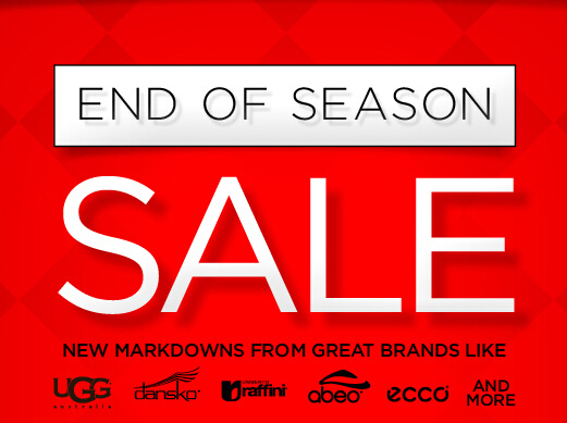 Up to 65% OffEnd of Season Sale @ The Walking Company