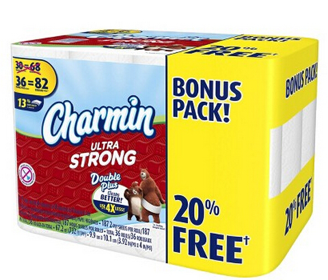 $22.38 2-Pack Charmin Ultra Soft / Strong Toilet Paper + 5GC