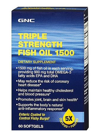 $9.99 GNC Triple Strength Fish Oil 1500 60 softgels