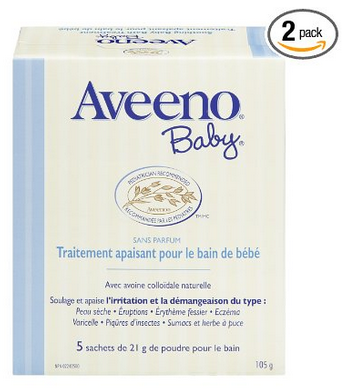 $6.65 Aveeno Baby Eczema Therapy Soothing Baby Bath Treatment,5 Count-3.75oz(Pack of 2)