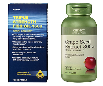$17.99 - $19.99 GNC Herbal Plus Grape Seed Extract 300 & Select Triple Strength Fish Oil Sale