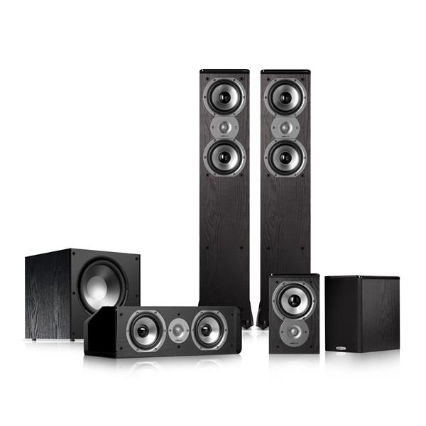 Polk Audio TSi300 5.1 Home Theater Speaker Package (Black)