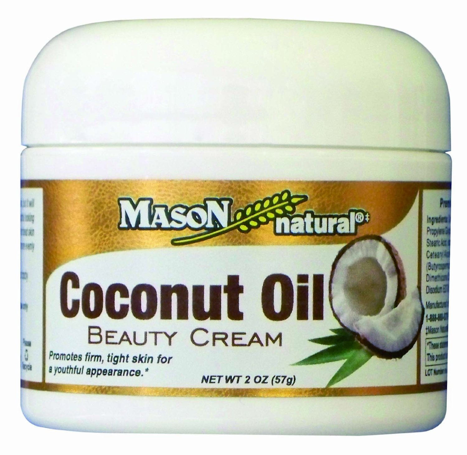 MASON natural Coconut Oil Beauty Cream, 2 Ounce