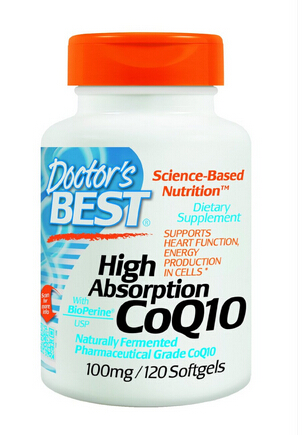 $13.3 Doctor's Best High Absorption Coq10 w/ BioPerine (100 mg), 120 Soft gels