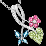 78% Off Butterfly Pendant with Swarovski Crystal in Sterling Silver Only $24 Plus Free Shipping