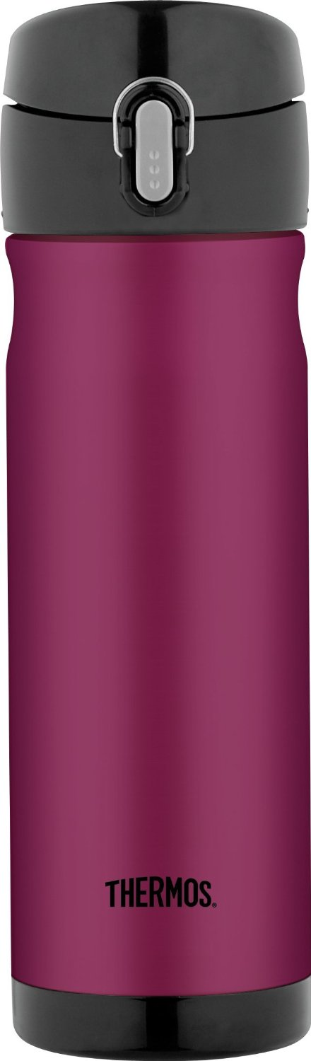 Thermos Stainless Steel Commuter Bottle, 16-Ounce, Raspberry