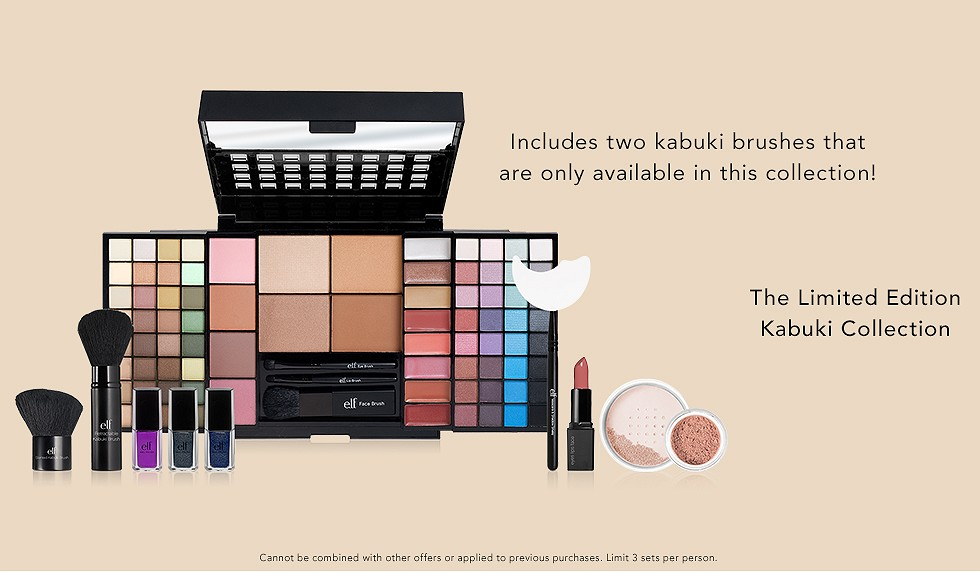 Today Only! Save 60%on the Limited Edition Kabuki Collection @ e.l.f. Cosmetics