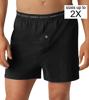 Hanes Men's TAGLESS® ComfortSoft® Knit Boxer with Comfort Flex® Waistband 5-Pack