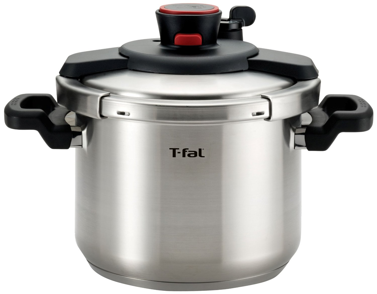 T-fal P45007 Clipso Stainless Steel Pressure Cooker, 6.3-Quart, Silver