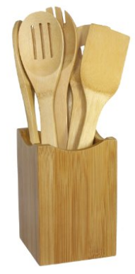 Oceanstar Bamboo Cooking Utensil Set, 7-Piece