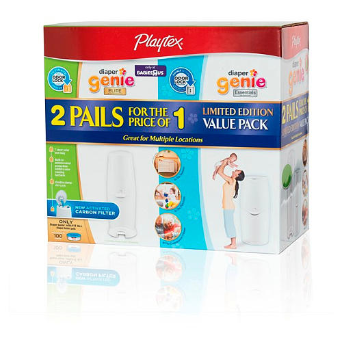 $27.99 Playtex Diaper Genie Elite Pail With Essential Pail And 100Ct Refill