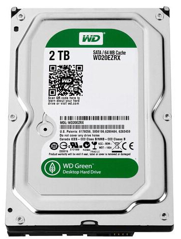 $69.99 WD Green 2TB Internal Serial ATA Hard Drive for Desktops