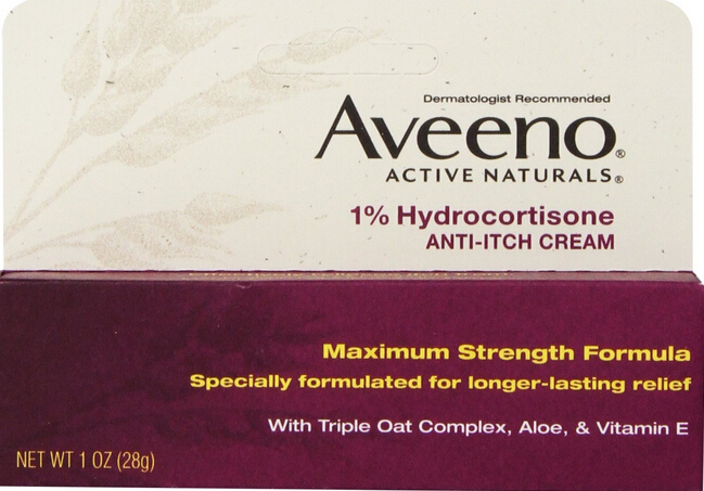 $2.86 Aveeno Anti-Itch Cream, 1% Hydrocortisone 1 Ounce (Pack of 2)