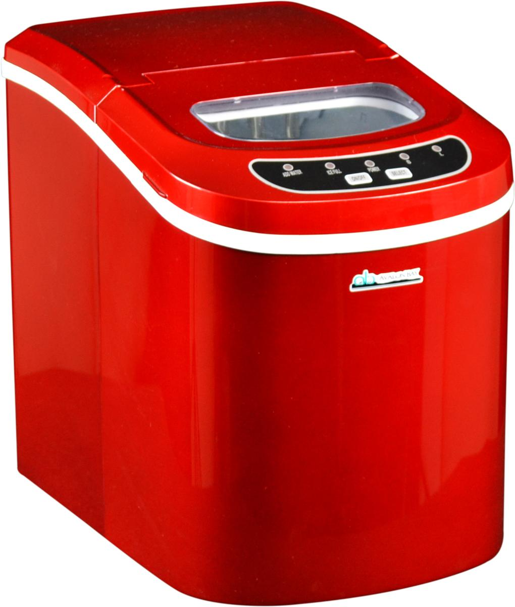 Avalon Bay AB-ICE26R Portable Ice Maker, Red