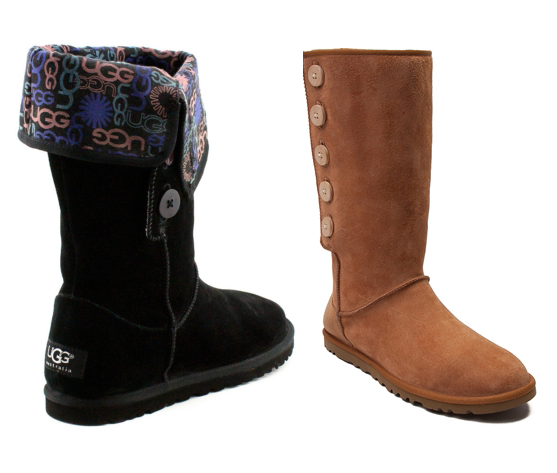 Womens UGG® Lo Pro Boot, Black or Chestnut