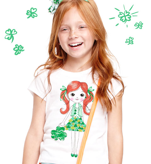 $3.36 Girls' Graphic Tees @ The Children's Place