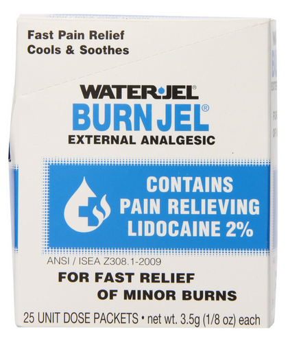 $11.1 Water Jel First Aid Burn Relief Burn jel,25 count