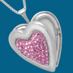 Heart Locket with Swarovski Crystal Only $19 Plus Free Shipping