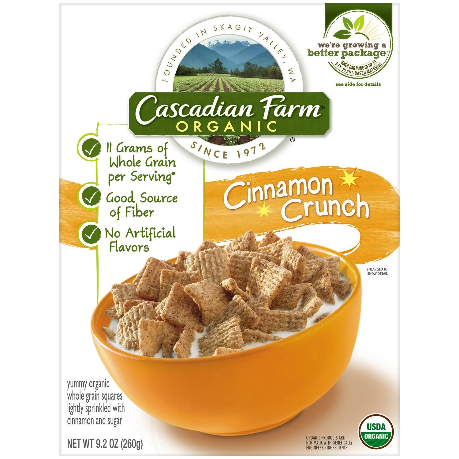20% Off + Extra 5% Off + Free Shipping Select Cascadian Farm Cereal @Amazon.com