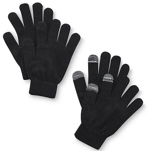 $0.99 Joe Boxer Junior's 2-Pairs Touch-Screen Friendly Gloves