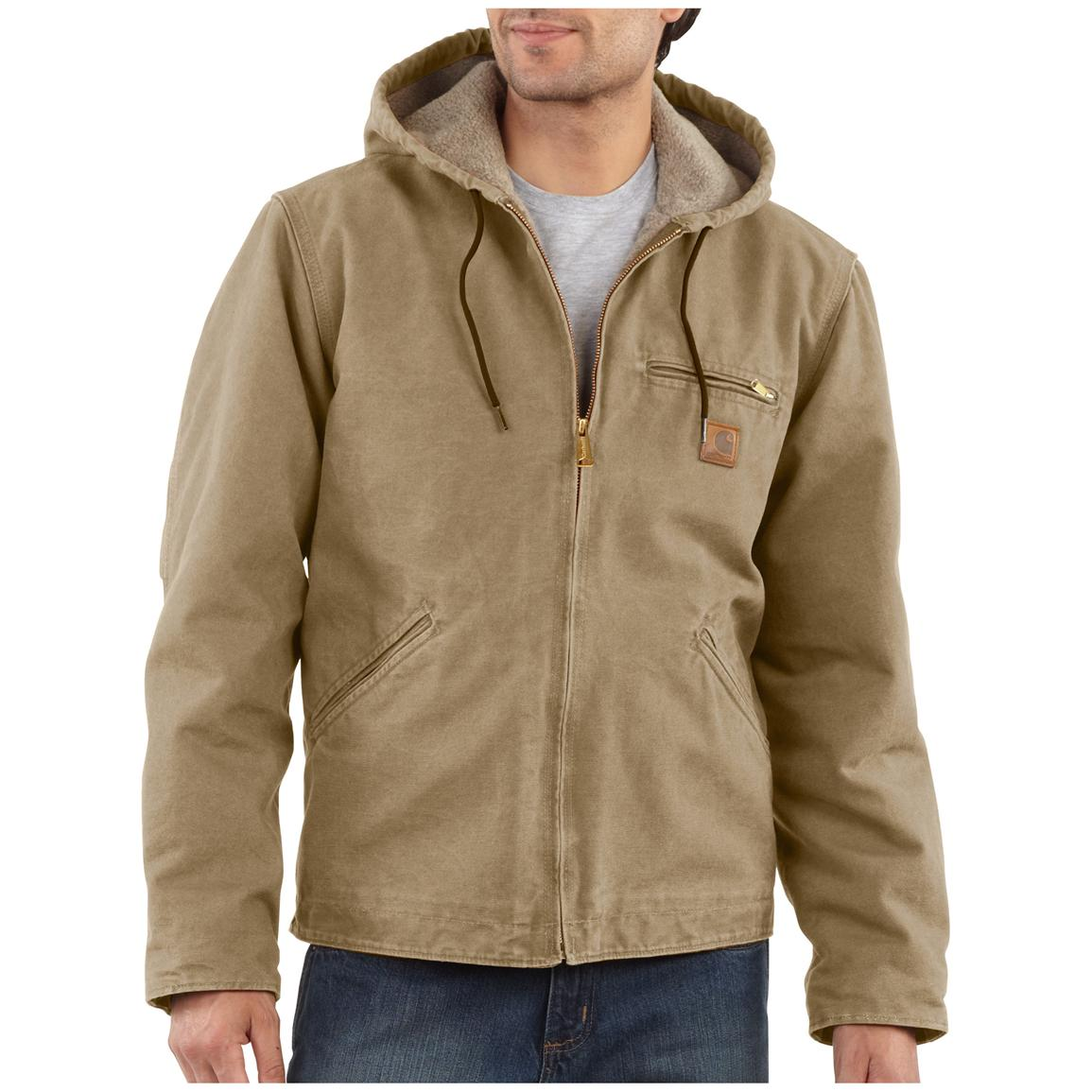 Carhartt Men's Hooded Sandstone Sierra Jacket