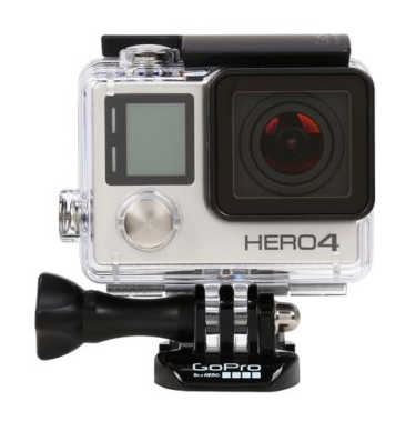 $329 GoPro HERO4 Silver Camera with Built-In Touch Display/Wi-Fi/Bluetooth CHDHY401