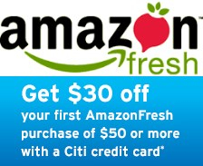 $30 Off $50 on First Order for Citi Card Member @ Amazon Fresh