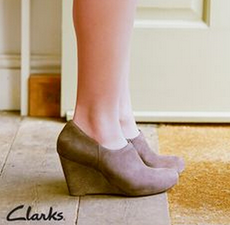 Clarks Purity Frost Wedges