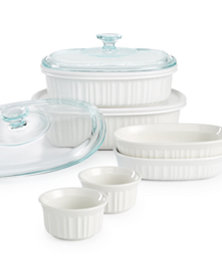 Corningware French White 10 Piece Bakeware Set