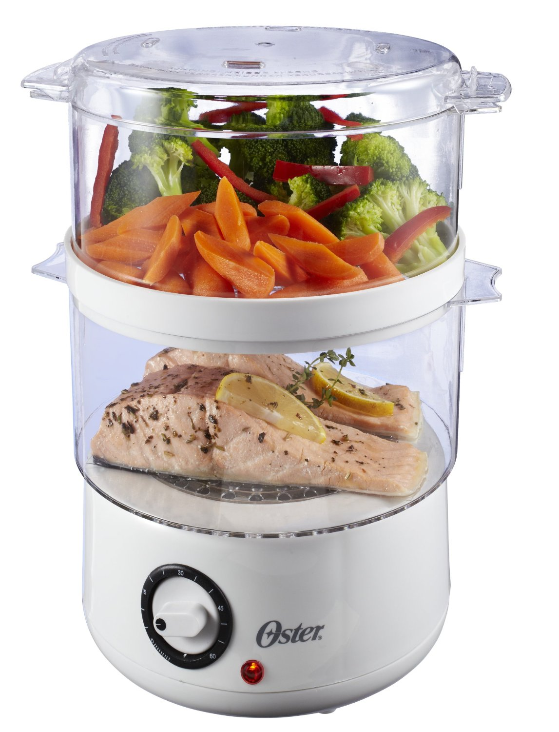 Oster CKSTSTMD5-W 5-Quart Food Steamer, White