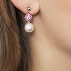 Pearl Stud Earrings with Swarovski Only $29 Plus Free Shipping