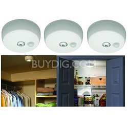 $33.49 Mr Beams MB 980 Battery-Operated Indoor/Outdoor Motion-Sensing LED Ceiling Light 3-Pack