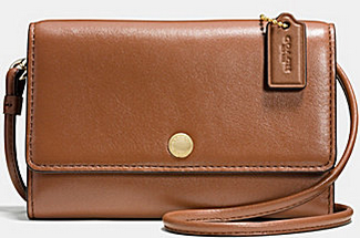 Coach Phone Crossbody in Leather @ Bon-Ton