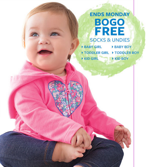 BOGO Free Select Kids' Undies and Socks @ Carter's