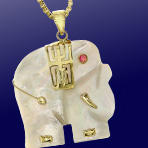 81% Off Mother-of-Pearl Elephant Pendant Only $24 Plus Free Shipping