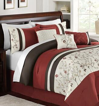 $59.99 Bella Donna 7 Piece Embroidered Comforter Sets