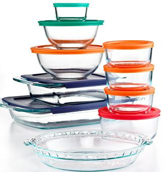 $29.99 Pyrex 19 Piece Bake, Store and Prep Set with Colored Lids