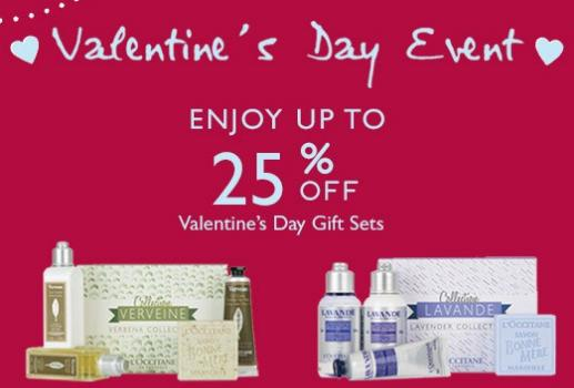 Up to 25% Off Valentine's Day Gift @ L'Occitane