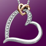 78% Off Heart Pendant with Diamonds Only $39 Plus Free Shipping