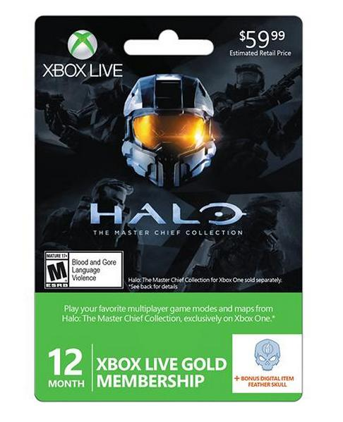 $39.99 Microsoft - Xbox Live 12+1 Month Gold Membership - Halo: Master Chief Collection