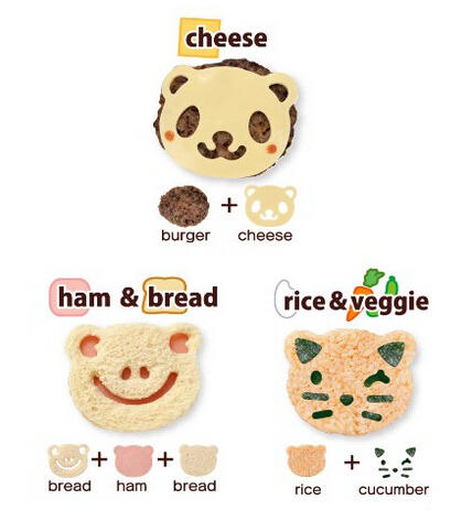 $8.42 CuteZCute Animal Friends Food Deco Cutter and Stamp Kit