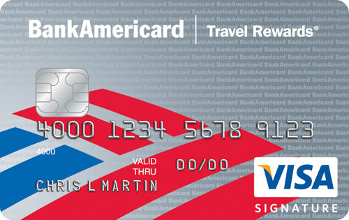 10,000 Bonus Points After Required Spend BankAmericard Travel Rewards® Credit Card