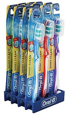 $8Oral B Shiny Clean Soft Toothbrushes, 12 Pack